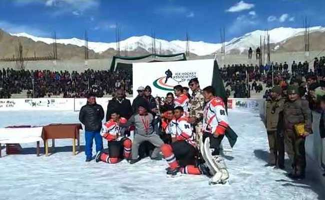 Indo-Tibet Border Police Defeat Army To Win Ladakh Ice Hockey Tournament