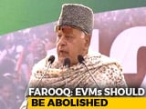 "Video : ""EVM Is A Chor Machine"": Farooq Abdullah At Opposition Meet In Kolkata"