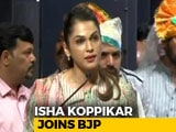 Video : Actor Isha Koppikar Joins BJP As Head Of Women Transport Wing