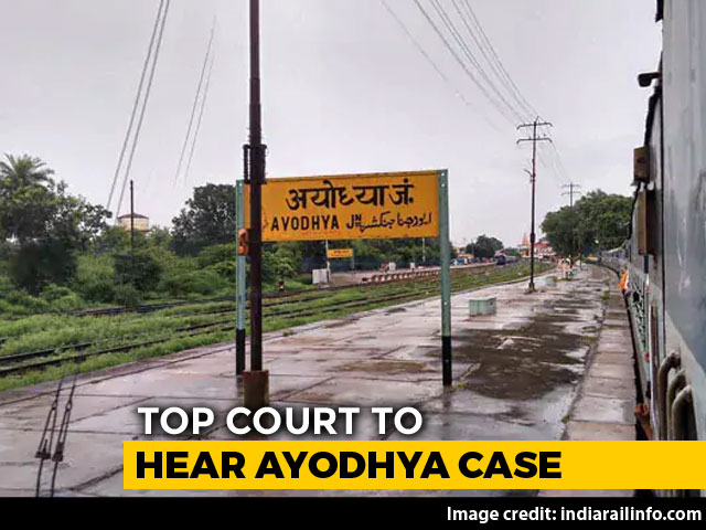 Video : 5-Judge Constitution Bench Of Supreme Court To Hear Ayodhya Case Today
