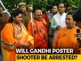 Video : Top BJP Leaders Seen With Right-Wing Leader Who Shot At Gandhi Effigy
