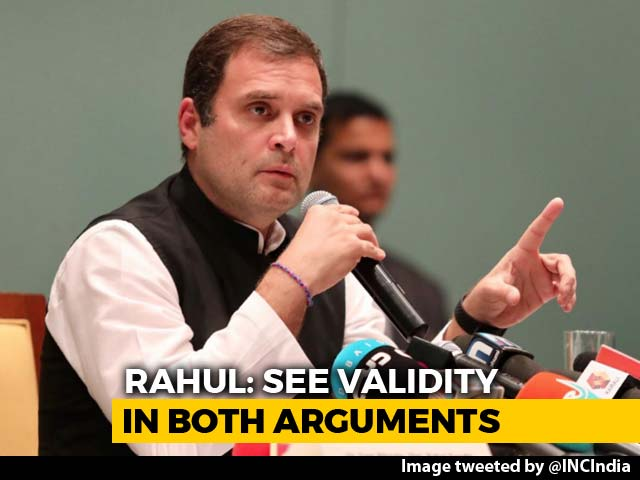Video : Rahul Gandhi Edits View On Sabarimala To An Election-Friendly Version
