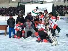 Indo-Tibet Border Police Defeat Army To Win Ladakh Ice Hockey Tournament