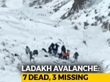 Video : 2 More Bodies Found At Ladakh Avalanche Site, Number Of Dead Rise To 7