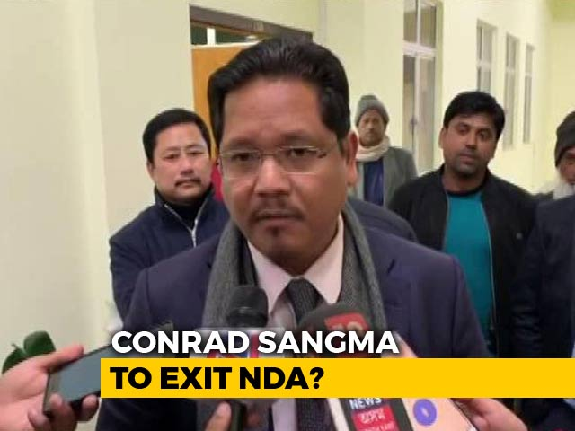 Video : Will Discuss With Party On Snapping Ties With BJP: Conrad Sangma