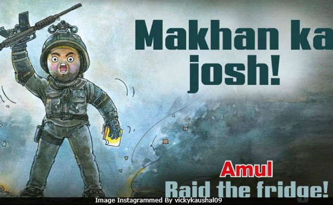 Uri: The Surgical Strike - Vicky Kaushal Utterly Butterly Delighted By Amul's Makhan Ka Josh Post