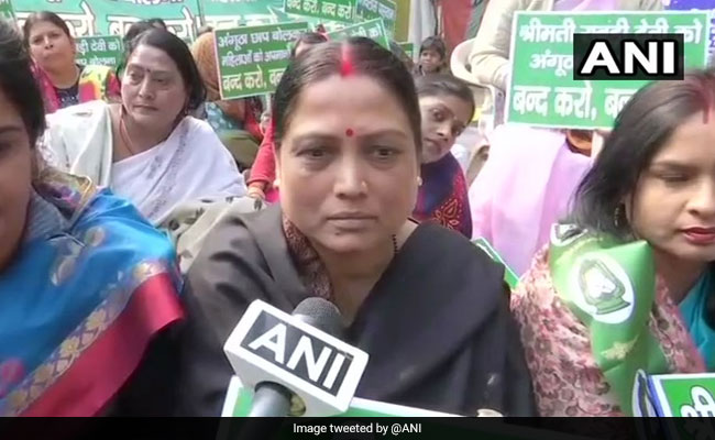 Ram Vilas Paswan's Daughter Protests 'Angootha Chhap' Jibe At Rabri Devi
