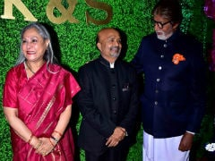 Amitabh Bachchan, Jaya Bachchan, Jeetendra And Others Attend Lyricist Sameer Anjaan's Daughter's Wedding Reception. See Pics