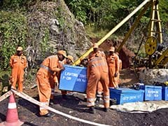 "Hopes Now Pinned On Huge Pump On Concrete Platform Near ""Rat-Hole"" Mine"