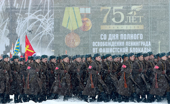 Russia Marks 75th Anniversary Of End Of Leningrad Siege
