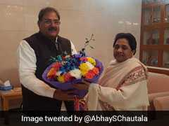 """""""By-Poll Win Will Be Her Birthday Gift"""": Abhay Chautala Meets Mayawati"""