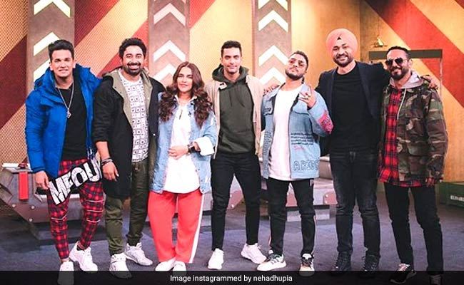 Guess Who Visited Neha Dhupia On The Sets Of Roadies