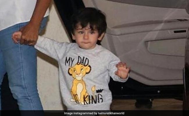 तैमूर अली खान पापा सैफ को मानते हैं अपना 'KING', कुछ यूं दिया सबूत.. देखें Pics
