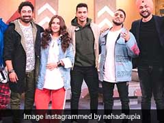Guess Who Visited Neha Dhupia On The Sets Of <I>Roadies</I>