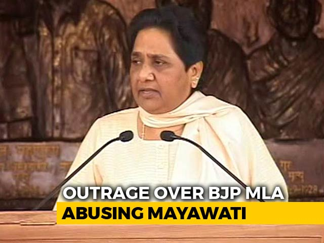 Video : BJP Leader's Comment On Mayawati Creates Storm, Police Complaint Filed