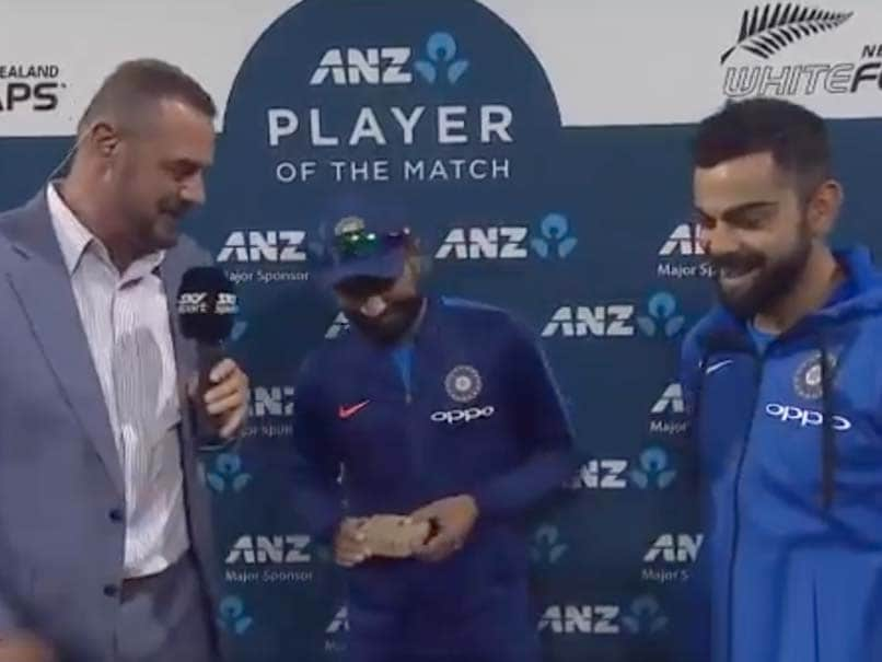 Watch How Virat Kohli and Mohammed Shami shared a light moment with Simon Doull at the post match interview