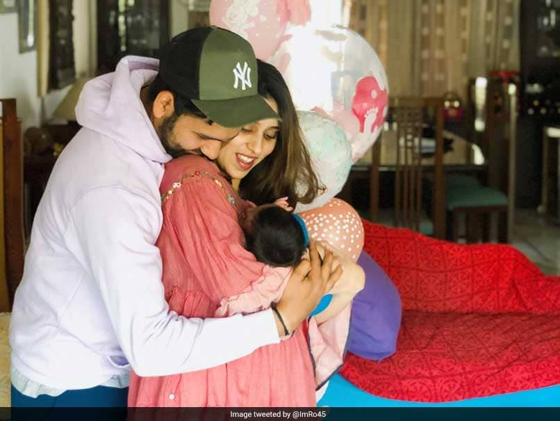 Rohit Sharma Reveals Newborn Daughters Name, Shares Adorable Family Picture
