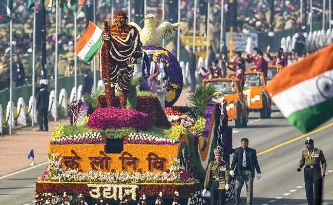 3 Lakh Flowers Used To Make Public Works Department Republic Day Tableau
