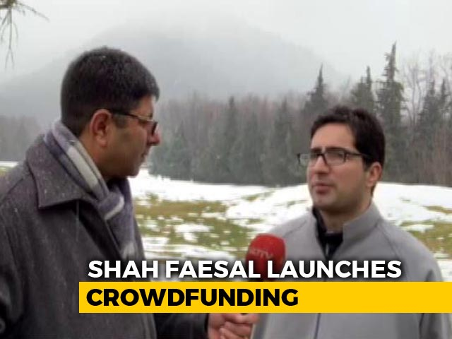 "Video : ""Someone Donated Earrings"": Shah Faesal Appeal Gets Overwhelming Response"
