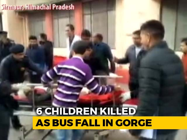 Video : 6 Children Among 7 Killed After School Bus Falls In Gorge In Himachal