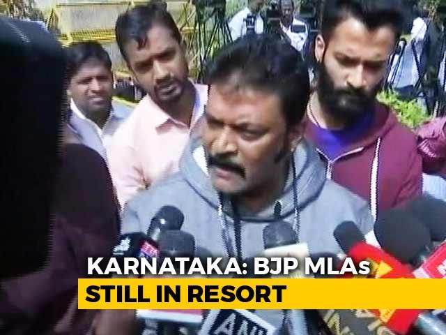 """Video : Karnataka BJP Lawmakers Still At Resort, """"Missing"""" Congress MLA Surfaces"""