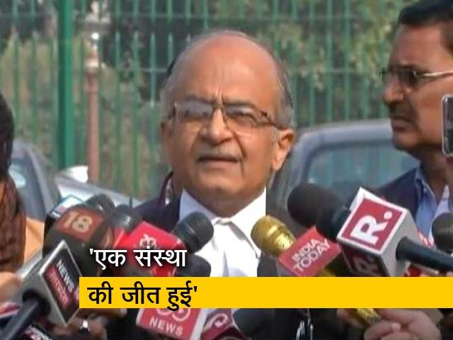 Videos : CBI चीफ आलोक वर्मा पर SC का निर्णय: वरिष्ठ वकील संजय हेगड़े बोले,  यह एक संस्था की जीत