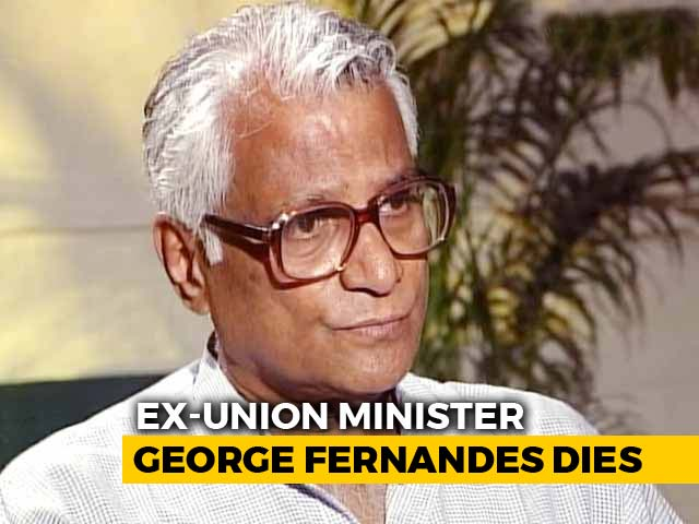 Video : George Fernandes, Former Defence Minister, Dies At 88 After Long Illness