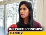 Video : Indian Economy Poised To Pick Up In 2019: IMF Chief Economist To NDTV