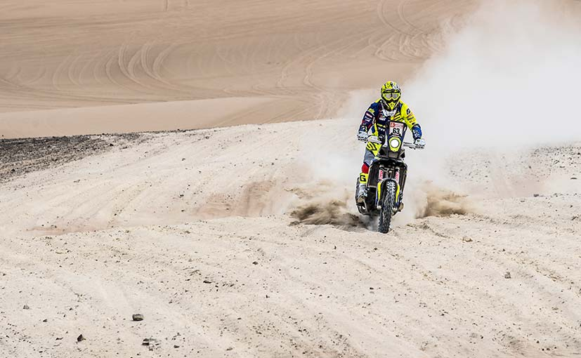 Lorenzo Santolino was the fastest of the Sherco TVS riders in Stage 2