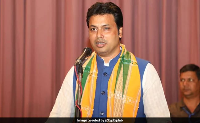 Congress Demands Probe After Biplab Deb's Son Seen With Gun In Photo