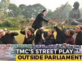 Video: How Trinamool Protested Citizenship Bill With A PM Modi Mask And A Stick