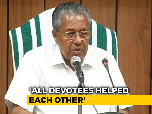"Video : ""Devotees Helped Women Enter Sabarimala"": Pinarayi Vijayan Amid Protests"