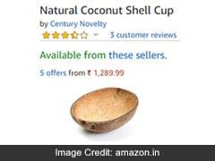 Amazon 1300 रुपये में बेच रहा है नारियल का खोल, EMI का भी है ऑप्शन, भारतीय रह गए हैरान