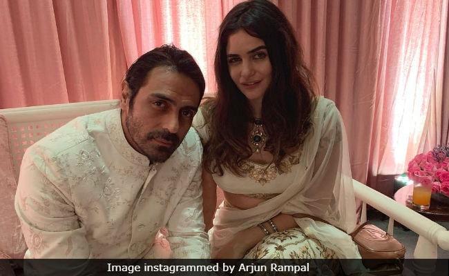 'At A Wedding, Not Mine': Arjun Rampal Captions Pic With Rumoured Girlfriend Gabriella Demetriades
