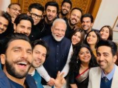 PM Modi's Bollywood Selfie With Ranveer Singh, Ranbir Kapoor, Alia Bhatt And Other Stars