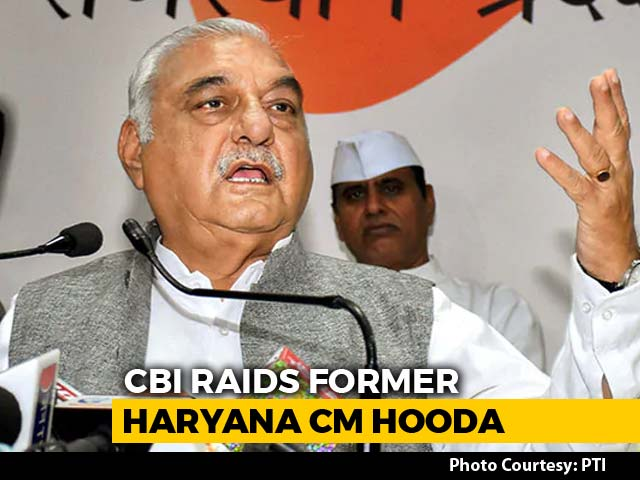 Video : CBI Raids Former Haryana Chief Minister BS Hooda In Land Deal Case