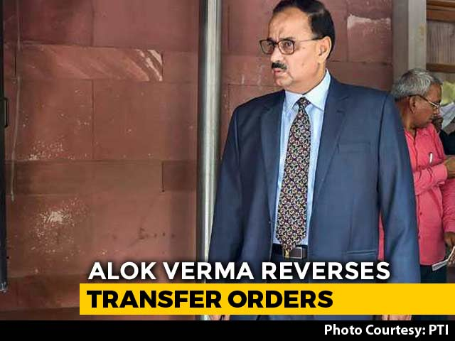 Video : CBI Director Alok Verma Cancels Most Transfers Ordered By Interim Chief