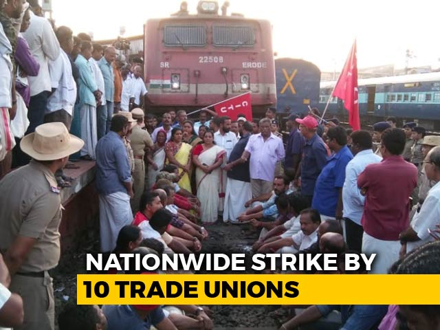 Video : Train Services Hit, Roads Blocked As 2-Day Nationwide Strike Kicks In