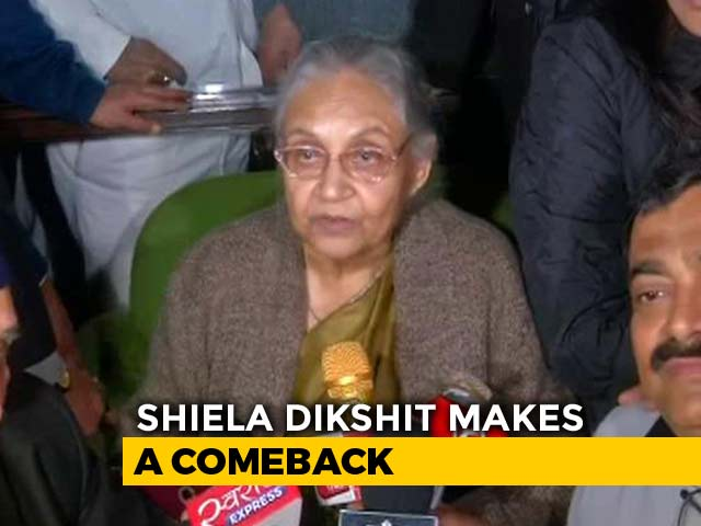Video : Sheila Dikshit, 3-Time Chief Minister, Will Be Delhi Congress Chief