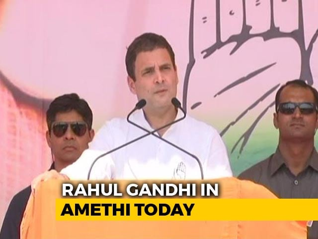 Video : Rahul Gandhi On Two-Day Visit To Amethi Today