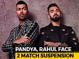 "Video : 2-ODI Ban Recommended For Hardik Pandya, KL Rahul Over ""Crass"" Comments"
