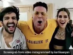 Kriti Sanon And Kartik Aaryan's <I>Luka Chuppi</I> Reminder Has An Akshay Kumar Surprise