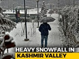 Video : Heaviest Snowfall Brings Kashmir To Standstill, Power Cuts In Most Parts