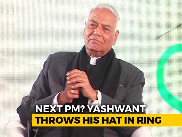 "Video : ""Me,"" Says Yashwant Sinha On Next Prime Minister. He Explains"