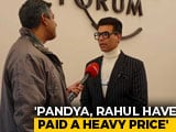 "Video : ""Take Complete Responsibility"": Karan Johar On Hardik Pandya-KL Rahul Row"