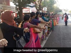 Sabarimala Row: Women Form Human Chain In Mumbai To Support 'Kerala Wall'