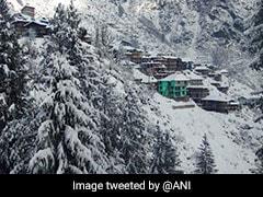 हिमाचल प्रदेश के पहाड़ों में बिछी 'सफेद चादर', बर्फबारी देखने के लिए पहुंच रहे हैं पर्यटक