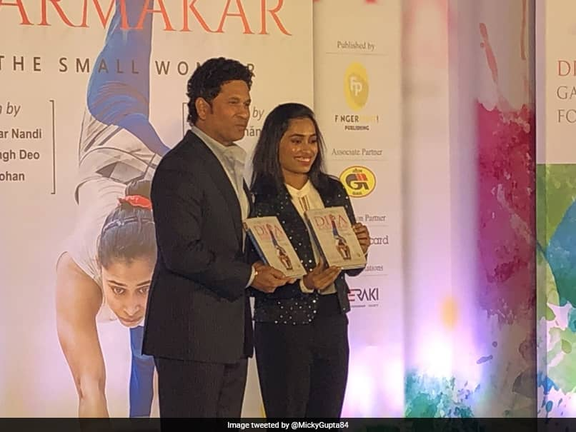 "Sachin Tendulkar Launches Dipa Karmakars Biography ""The Small Wonder"" - See Pictures"