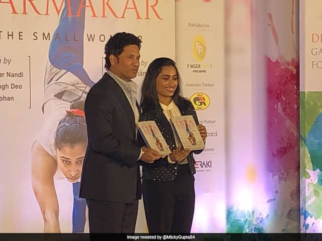 Dipa Karmakars biography, The Small Wonder, was launched by Sachin Tendulkar