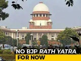 "Video : No BJP <i>Rath Yatra</i> For Now; Top Court Says Bengal's Worry ""Not Unfounded"""